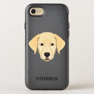 Capa Para iPhone 8/7 OtterBox Symmetry Ouro Retriver do filhote de cachorro da ilustração