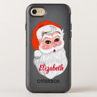 "Capa Para iPhone 8/7 OtterBox Symmetry ""Papai Noel bonito"" com nome"