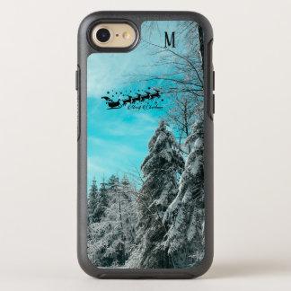Capa Para iPhone 8/7 OtterBox Symmetry Papai noel que voa os feriados especiais dos