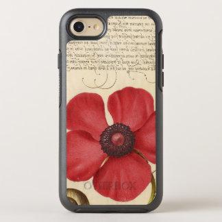Capa Para iPhone 8/7 OtterBox Symmetry Papoila vermelha e o inseto