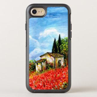 Capa Para iPhone 8/7 OtterBox Symmetry PAPOILAS EM TOSCÂNIA/paisagem com campos de flor