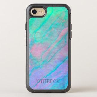 Capa Para iPhone 8/7 OtterBox Symmetry Pedra da madrepérola da aguarela de Shell do olmo