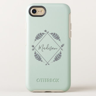Capa Para iPhone 8/7 OtterBox Symmetry Pena boémia nome personalizado