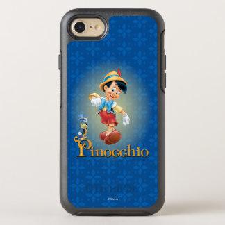 Capa Para iPhone 8/7 OtterBox Symmetry Pinocchio com grilo de Jiminy