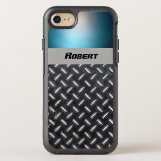 Capa Para iPhone 8/7 OtterBox Symmetry Placa conhecida personalizada do azul & do