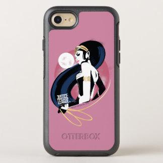 Capa Para iPhone 8/7 OtterBox Symmetry Pop art do perfil da mulher maravilha da liga de