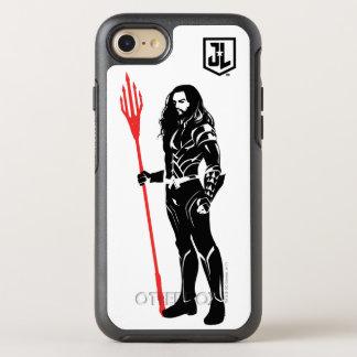 Capa Para iPhone 8/7 OtterBox Symmetry Pop art Noir da pose da liga de justiça   Aquaman