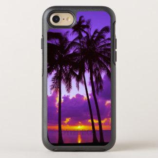 Capa Para iPhone 8/7 OtterBox Symmetry Por do sol tropical roxo 3