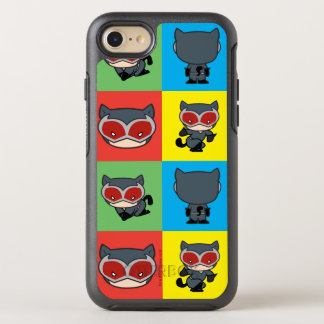 Capa Para iPhone 8/7 OtterBox Symmetry Poses do caráter da mulher-gato de Chibi