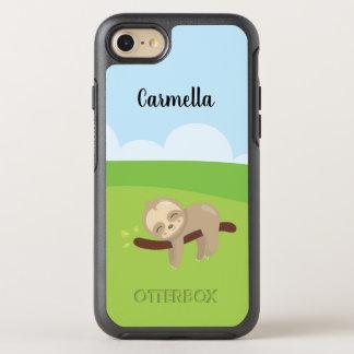 Capa Para iPhone 8/7 OtterBox Symmetry Preguiça sonolento personalizada