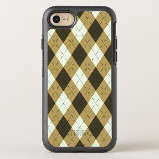 Capa Para iPhone 8/7 OtterBox Symmetry Preto e teste padrão geométrico de Argyle das