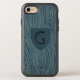 Capa Para iPhone 8/7 OtterBox Symmetry Protetor rústico de Bois Monogramed do falso