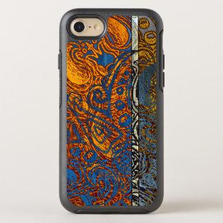 Capa Para iPhone 8/7 OtterBox Symmetry Redemoinho azul de Jean de três tons