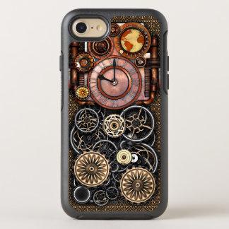 Capa Para iPhone 8/7 OtterBox Symmetry Relógio elegante do vintage de Steampunk