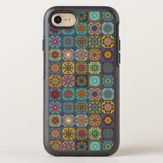 Capa Para iPhone 8/7 OtterBox Symmetry Retalhos do vintage com elementos florais da