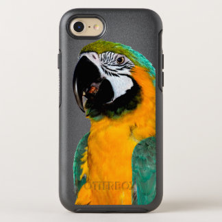 Capa Para iPhone 8/7 OtterBox Symmetry retrato colorido do pássaro do papagaio do macaw