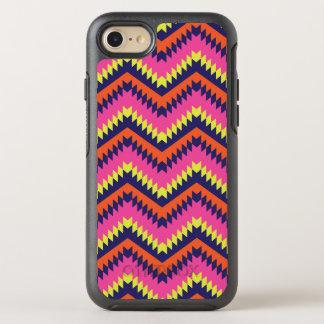 Capa Para iPhone 8/7 OtterBox Symmetry Rosa alaranjado do teste padrão tribal de néon