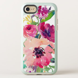 Capa Para iPhone 8/7 OtterBox Symmetry Rosas rosas vermelha florais da aguarela moderna