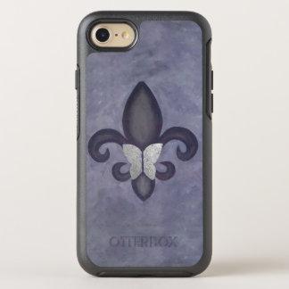 Capa Para iPhone 8/7 OtterBox Symmetry Roxo silenciado da urze da borboleta da tecnologia