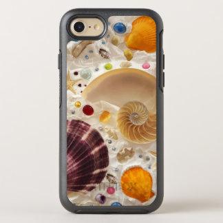 Capa Para iPhone 8/7 OtterBox Symmetry Seashells de Tropicsl do verão da praia