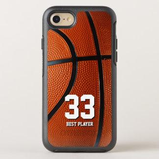 Capa Para iPhone 8/7 OtterBox Symmetry Seu próprio esporte do basquetebol do número e do
