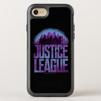 Capa Para iPhone 8/7 OtterBox Symmetry Silhueta da cidade da liga de justiça da liga de
