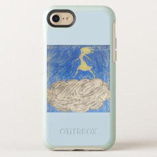 Capa Para iPhone 8/7 OtterBox Symmetry silhueta da mulher que anda em uma capa de