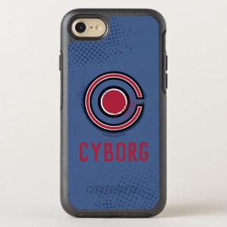 Capa Para iPhone 8/7 OtterBox Symmetry Símbolo do Cyborg da escova & da reticulação da