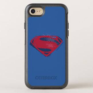 Capa Para iPhone 8/7 OtterBox Symmetry Símbolo do superman da escova & da reticulação da