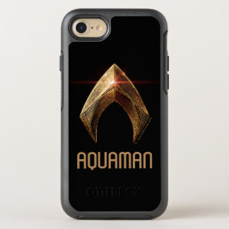 Capa Para iPhone 8/7 OtterBox Symmetry Símbolo metálico da liga de justiça   Aquaman