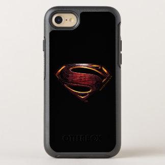 Capa Para iPhone 8/7 OtterBox Symmetry Símbolo metálico do superman da liga de justiça  
