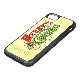 Capa Para iPhone 8/7 OtterBox Symmetry Slogan do cartão do vintage do Feliz Natal