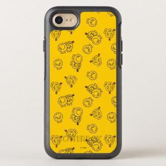 Capa Para iPhone 8/7 OtterBox Symmetry Sr. Feliz & teste padrão amarelo pequeno da