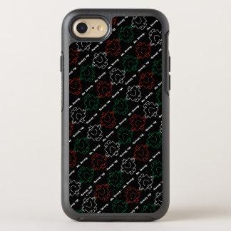 Capa Para iPhone 8/7 OtterBox Symmetry Sr. Forte teste padrão vermelho, branco & verde de