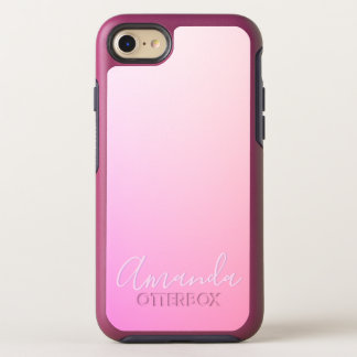 Capa Para iPhone 8/7 OtterBox Symmetry Sua gradação cor-de-rosa do nome ou da palavra  