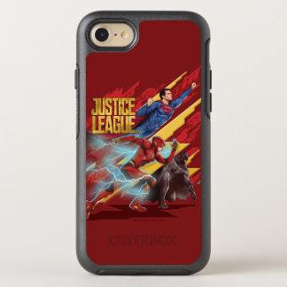Capa Para iPhone 8/7 OtterBox Symmetry Superman da liga de justiça |, flash, & crachá de