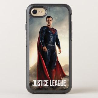 Capa Para iPhone 8/7 OtterBox Symmetry Superman da liga de justiça   no campo de batalha