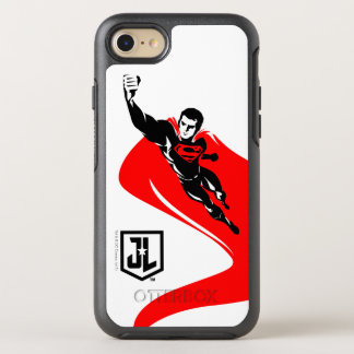 Capa Para iPhone 8/7 OtterBox Symmetry Superman da liga de justiça | que voa o pop art