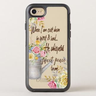 Capa Para iPhone 8/7 OtterBox Symmetry Sussurra citações doces do hino da paz