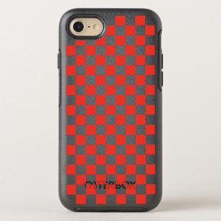 Capa Para iPhone 8/7 OtterBox Symmetry Tabuleiro de damas vermelho