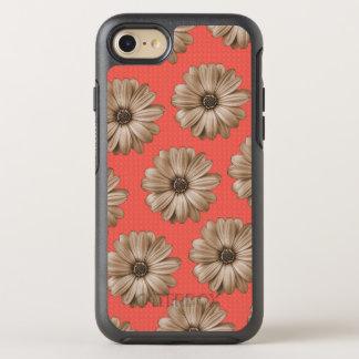 Capa Para iPhone 8/7 OtterBox Symmetry Tan e impressão floral tropical coral