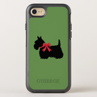 Capa Para iPhone 8/7 OtterBox Symmetry Terrier escocês com a silhueta vermelha do arco