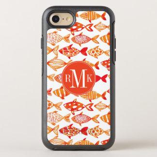 Capa Para iPhone 8/7 OtterBox Symmetry Teste padrão alaranjado brilhante dos peixes da