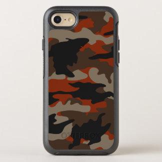 Capa Para iPhone 8/7 OtterBox Symmetry Teste padrão alaranjado da camuflagem de Camo da
