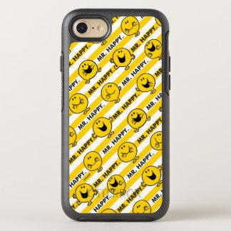Capa Para iPhone 8/7 OtterBox Symmetry Teste padrão amarelo das listras do Sr. Feliz |
