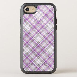 Capa Para iPhone 8/7 OtterBox Symmetry Teste padrão checkered roxo à moda