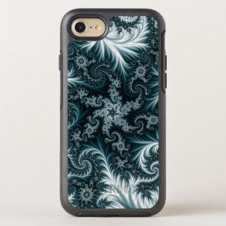 Capa Para iPhone 8/7 OtterBox Symmetry Teste padrão ciano e branco do fractal
