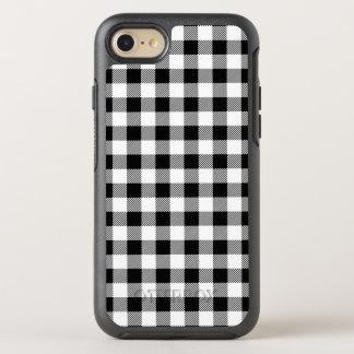 Capa Para iPhone 8/7 OtterBox Symmetry Teste padrão clássico B&W da xadrez da verificação