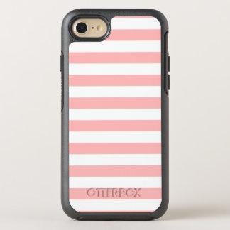 Capa Para iPhone 8/7 OtterBox Symmetry Teste padrão cor-de-rosa e branco da listra