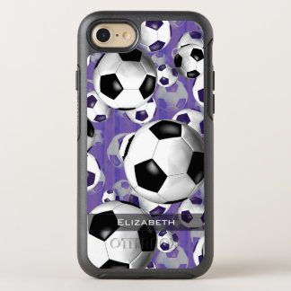 Capa Para iPhone 8/7 OtterBox Symmetry teste padrão da bola de futebol das mulheres